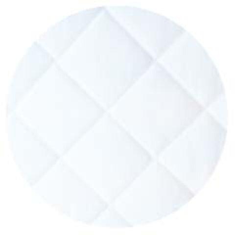Madrasbetræk, 9x90x200, Hvid