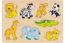 Puslespil, zoo dyr