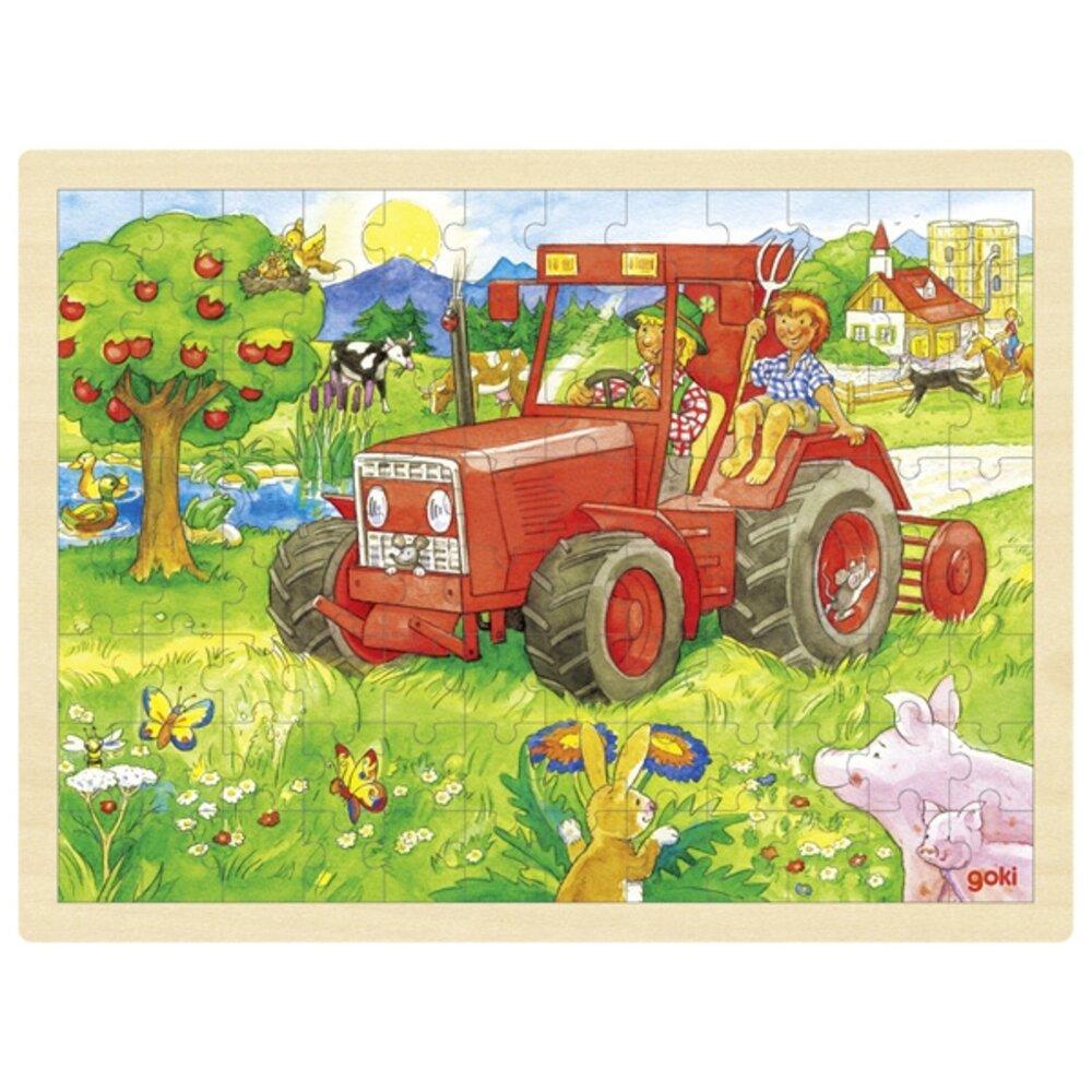 Goki Puslespil, traktor