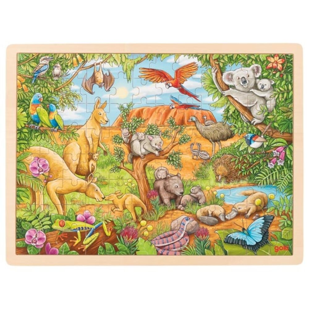 Goki Puslespil, australske dyr
