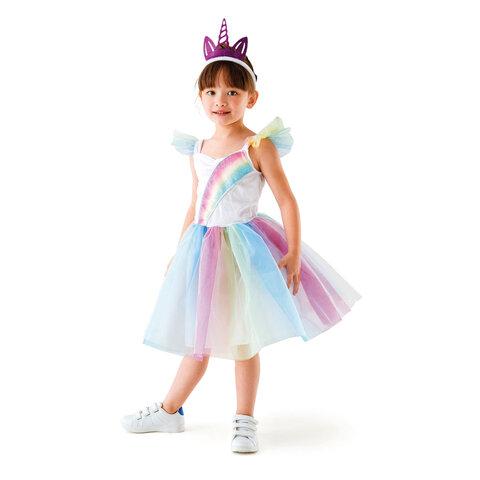 Enhjørning-Prinsesse Kostume, 3-5 År