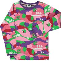 T-shirt med landskab - 526