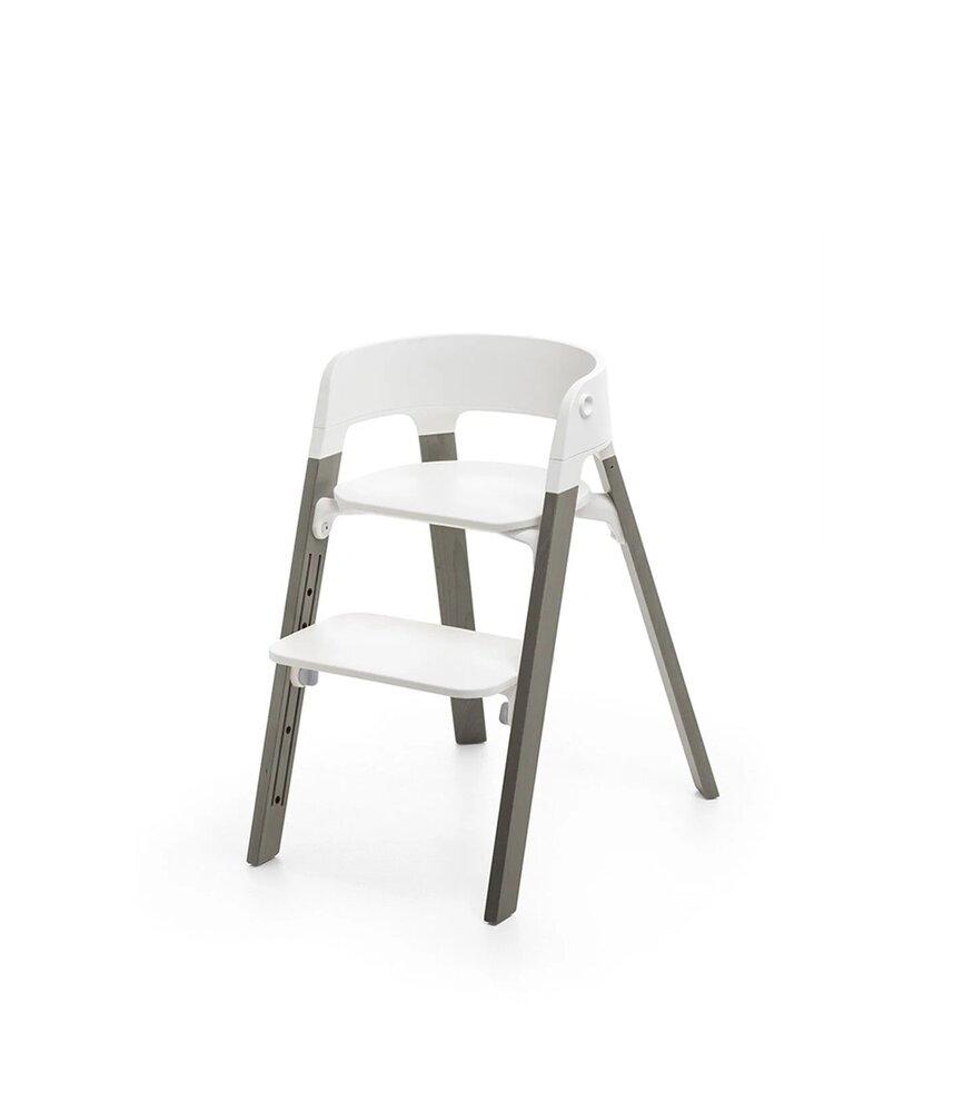 Image of Stokke® Steps højstol hvid/hazy grey (6efc0fd0-c5e4-4581-baec-034e9ea96d3f)