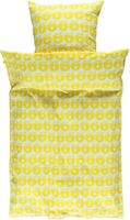 Voksen sengetøj æbler - yellow