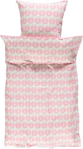 Baby sengetøj æbler - sea pink