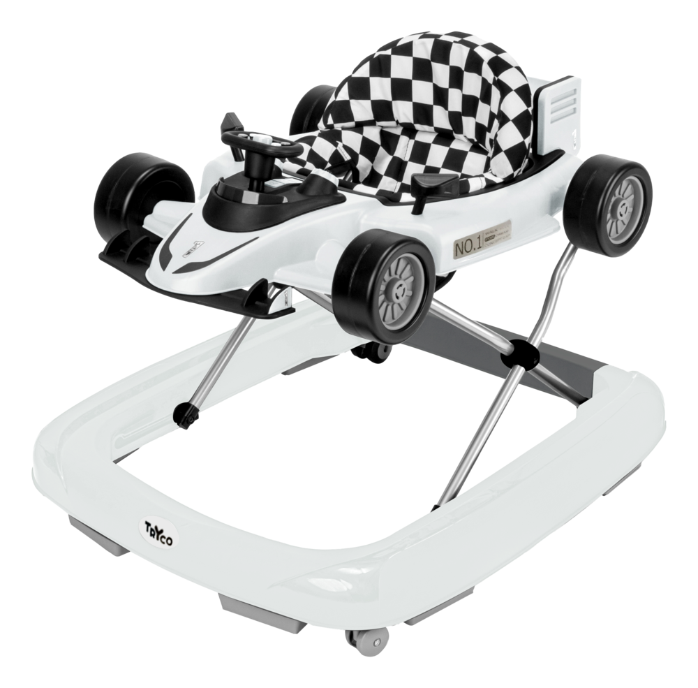 Image of TRYCO 2-i-1 Gåstol F1 Racer - Hvid (91ab645e-38f3-418e-b92b-fcfc8136eca5)