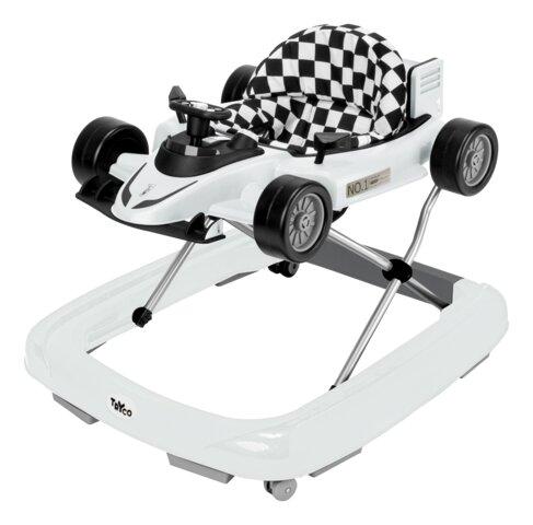 2-i-1 Gåstol F1 Racer - Hvid