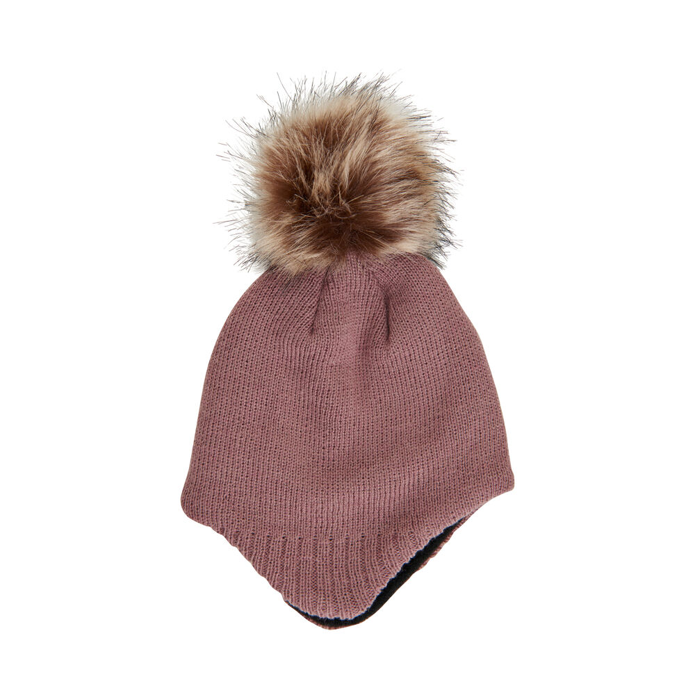 Image of Color Kids baby hat m. detachable fur - 2250 (c8f97d60-5756-4ab4-8a8f-2dbf3c54d0b5)