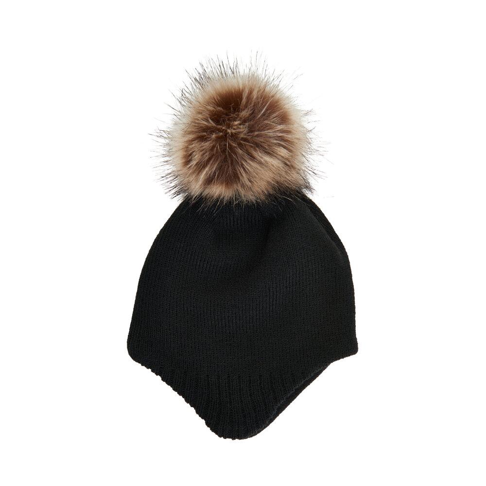 Image of Color Kids baby hat m. detachable fur - 1919 (fb9b31d2-ae25-49d8-9828-dc307f50c5e5)