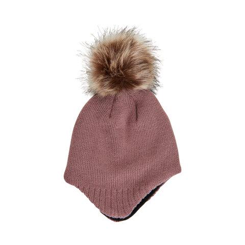 baby hat m. detachable fur - 2250