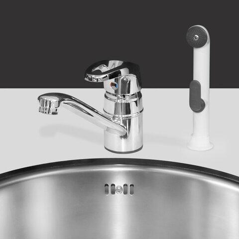 Vask og blandingsbatteri med bruser