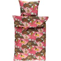 Voksen sengetøj Zoo - sea pink