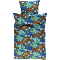 Voksen sengetøj Zoo - blue grotto
