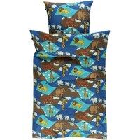 Junior sengetøj Zoo - blue grotto