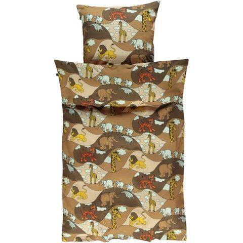 Voksen sengetøj Zoo - sand