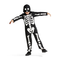 Selvlysende skelet kostume 3-5 år