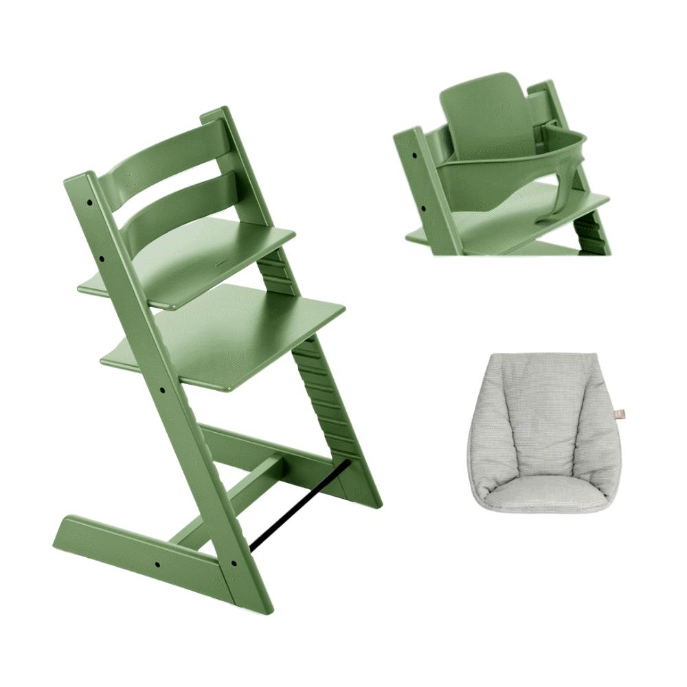 Image of TRIPP TRAPP® Højstol - moss green inkl. babypude og babysæt (f10054d6-95e7-4d6e-a791-b1aa656d8129)