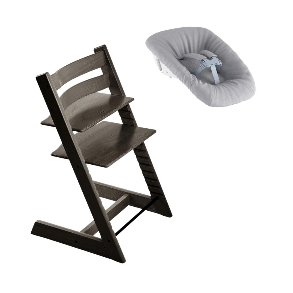 Image of TRIPP TRAPP® Højstol - hazy grey inkl. newborn sæt (91286903-9585-4be4-a91c-debe751b56a6)